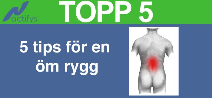 5 tips för en öm rygg