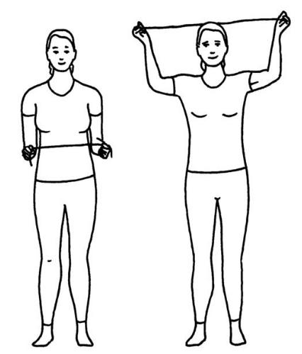 Utåtrotation med armlyft