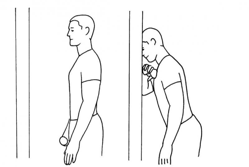 Massageboll Framsida axel