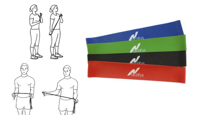 Träna med Minibands - 5 övningar för överkroppen