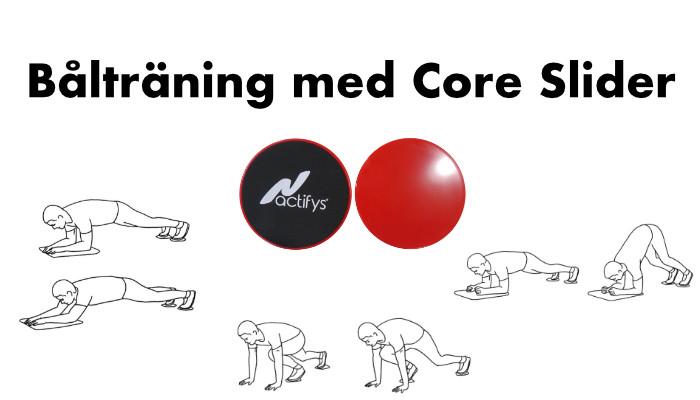 Bålträning med Core Slider