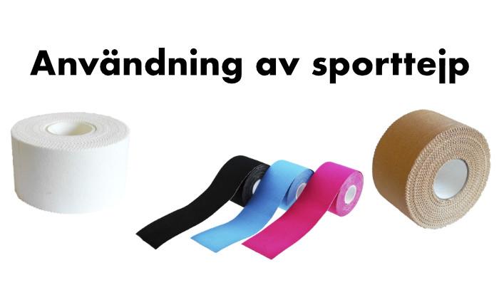 Användning av sporttejp