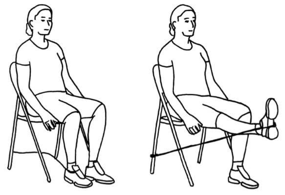 Sittande knästräckning (benspark)